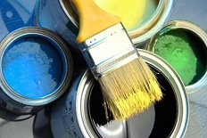 Why does paint dry on the wall but does not harden when in the tin?